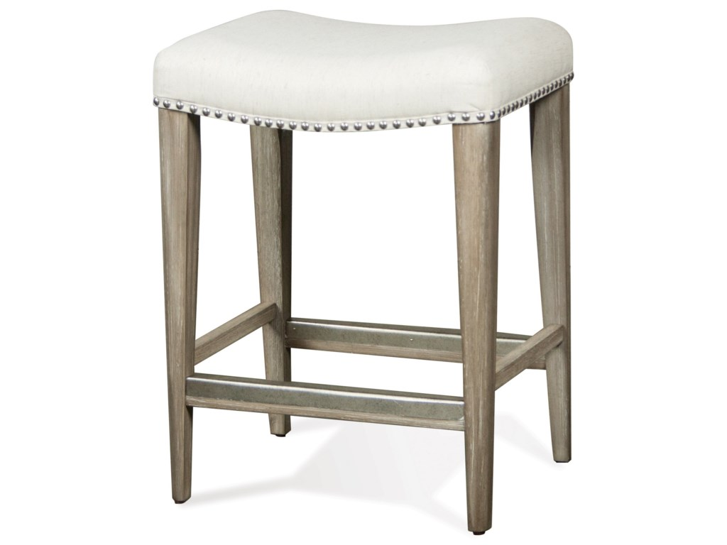 Riverside Furniture SophieSofa Table with Backless Upholstered Stools