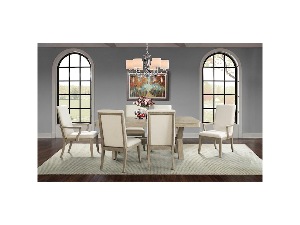 Riverside Furniture SophieTrestle Dining Table