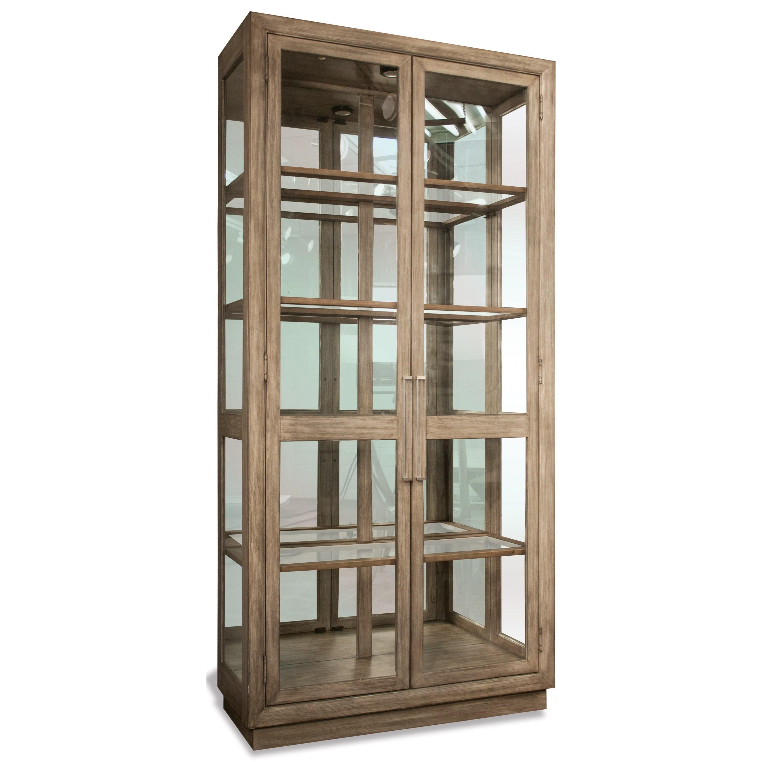 Great Riverside Furniture Sophie Display Cabinet With Mirrored Back