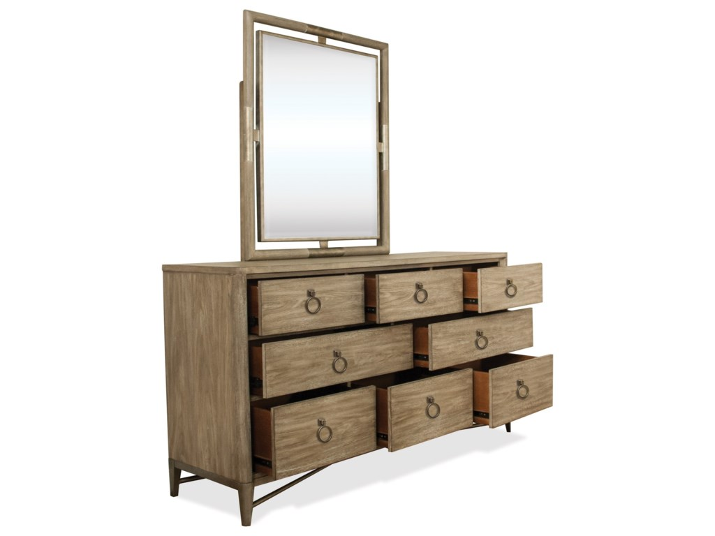 Riverside Furniture SophieDresser and Mirror Combo