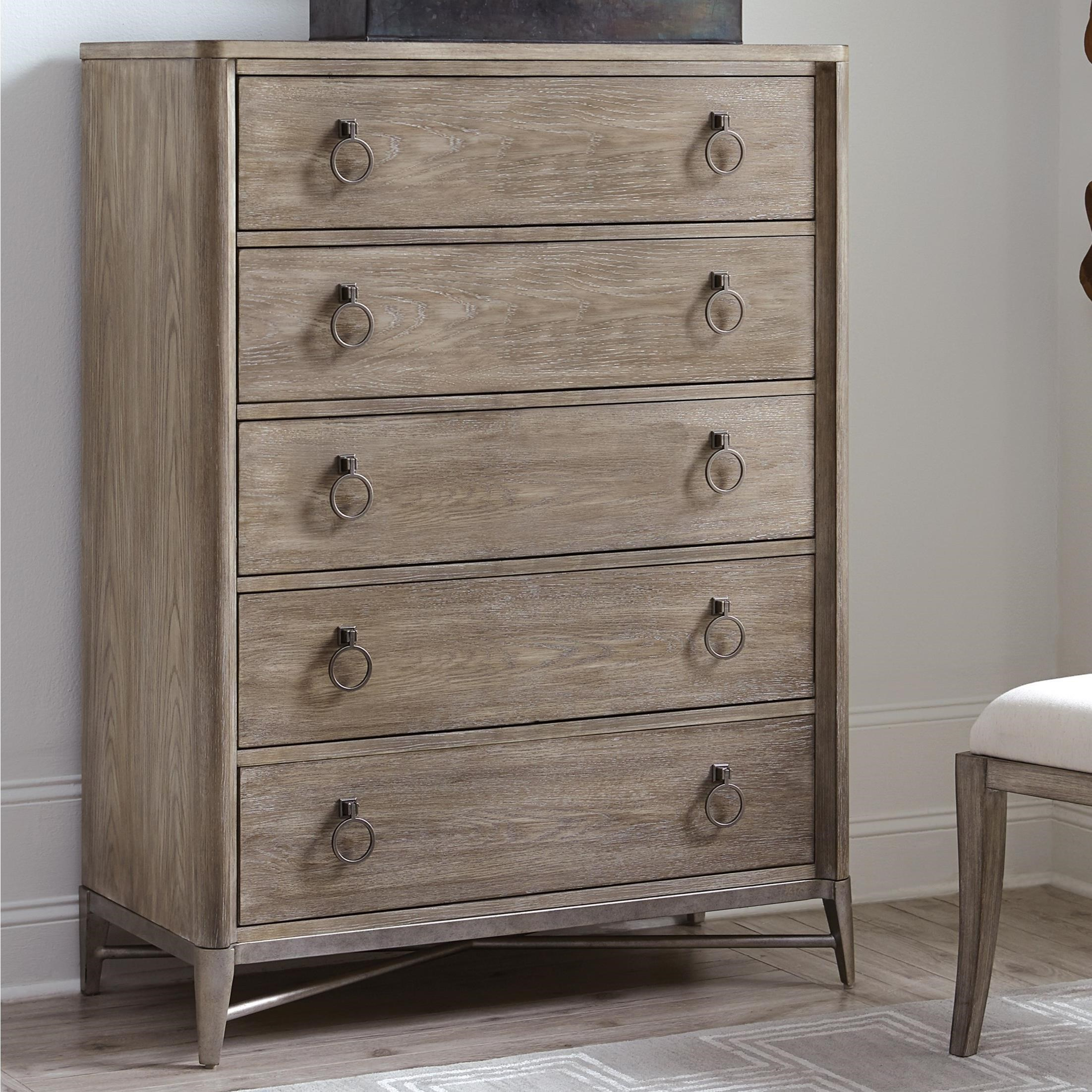 Riverside Furniture Sophie 5 Drawer Chest With Ring Pull Hardware