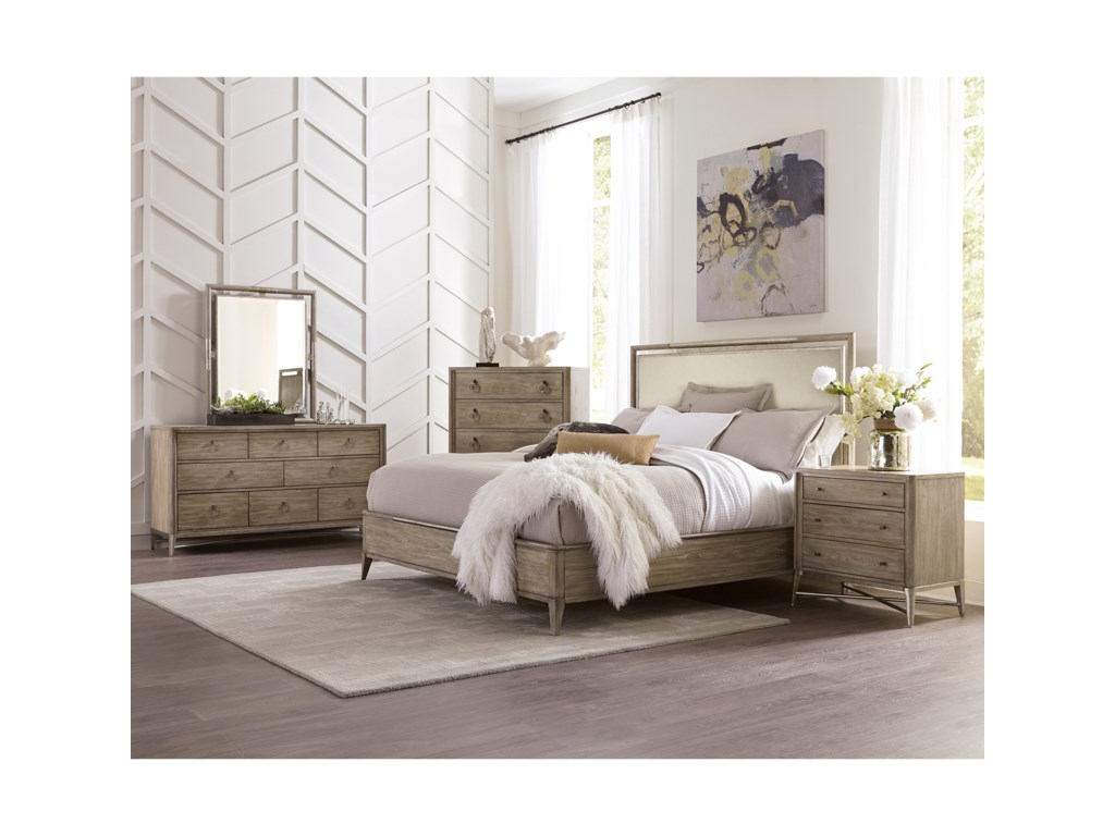 Riverside Furniture SophieCalifornia King Upholstered Panel Bed
