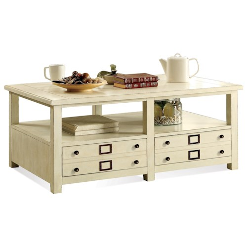 Riverside Furniture Sullivan Coffee Table with Removable Casters