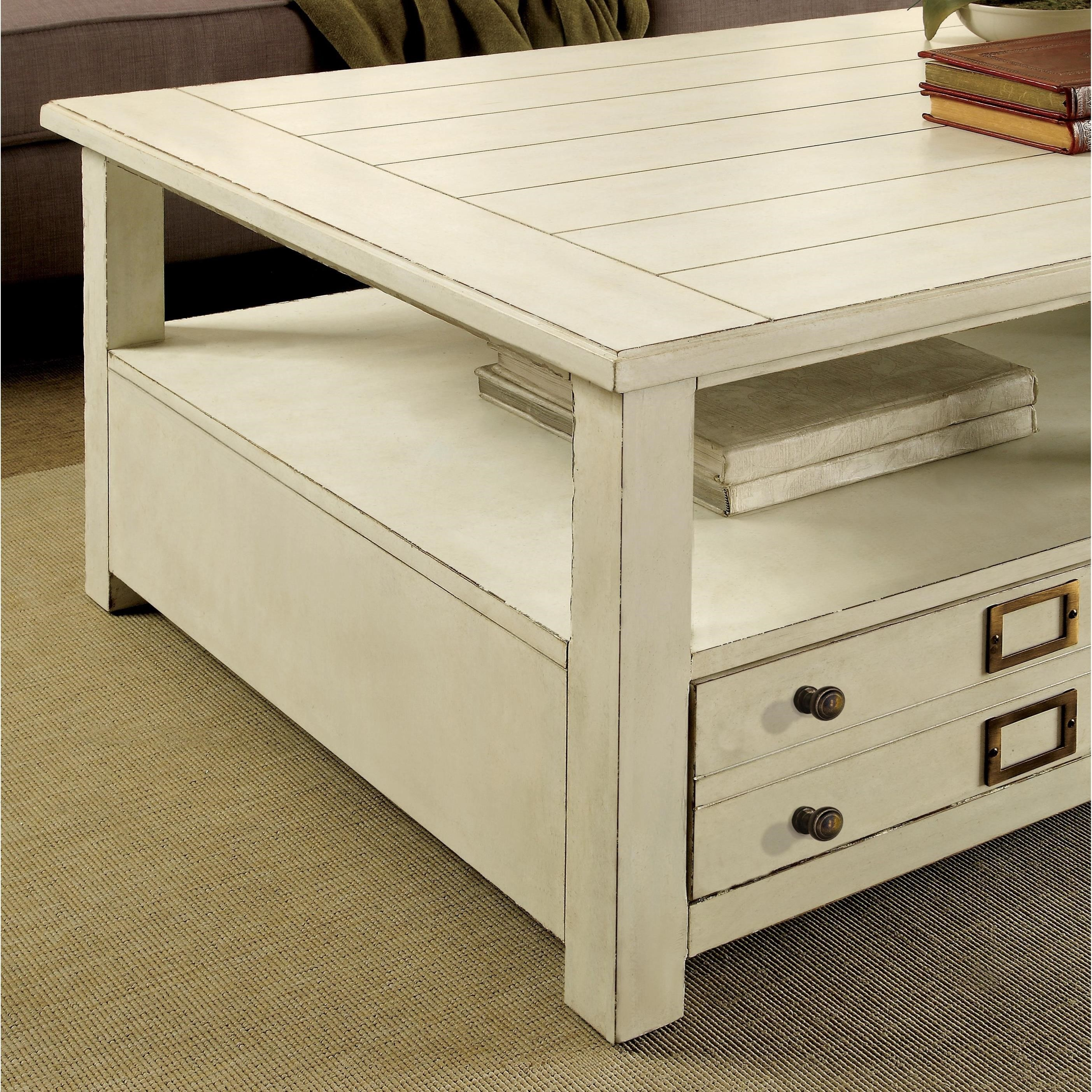 Lovely Riverside Furniture Sullivan Coffee Table With Removable Casters