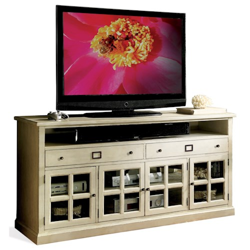 Riverside Furniture Sullivan 68-Inch TV Console with Mullioned Doors