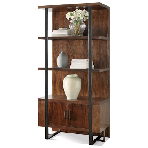Riverside Furniture Terra Vista 3 Shelf Bookcase Pier