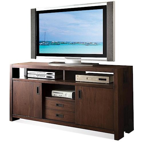 Riverside Furniture Terra Vista TV Console w/ Sliding Doors