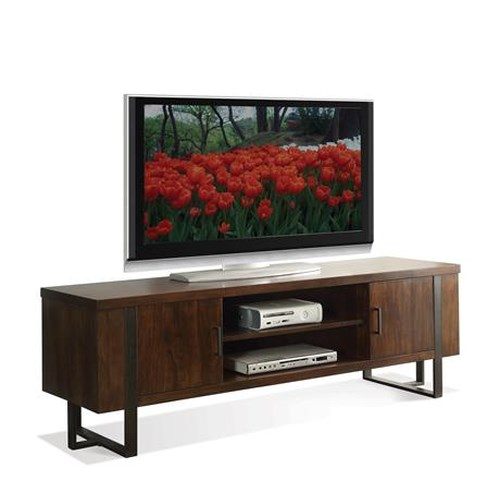 Riverside Furniture Terra Vista Contemporary TV Console in Casual Walnut Finish