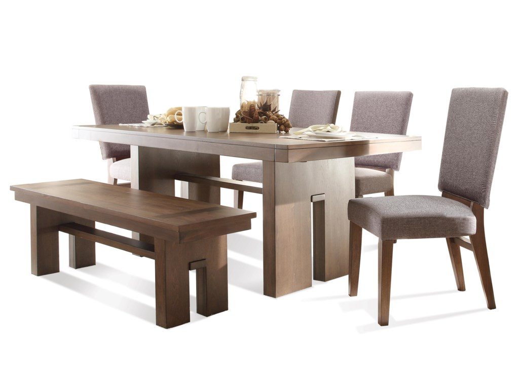 Terra Vista 6 Pc Table Chair Set W Bench By Riverside Furniture