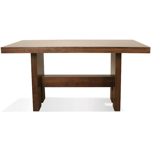 Riverside Furniture Terra Vista Gathering Height Dining Table In Casual Walnut Finish