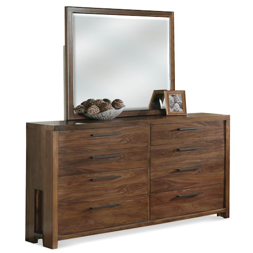 Riverside Furniture Terra Vista Eight Drawer Dresser & Mirror Set