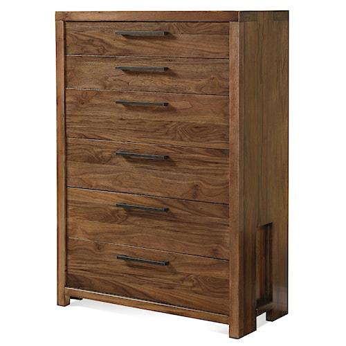 Riverside Furniture Terra Vista Six Drawer Chest w/ Felt Lining