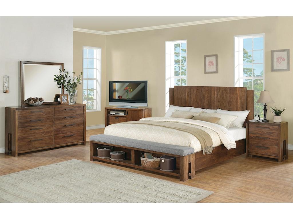Riverside Furniture Terra VistaKing Panel Bed
