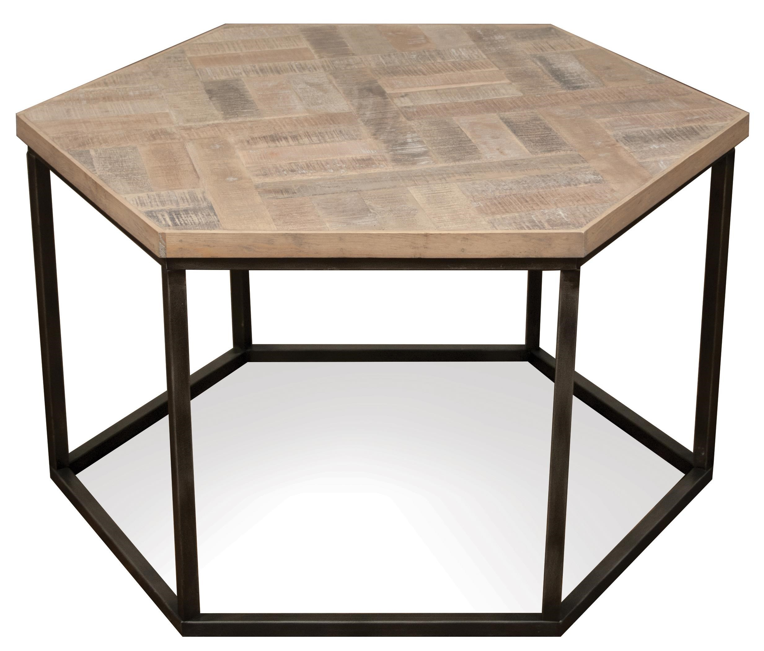 Riverside Furniture Thornhill Hexagon Coffee Table W/ Metal Base