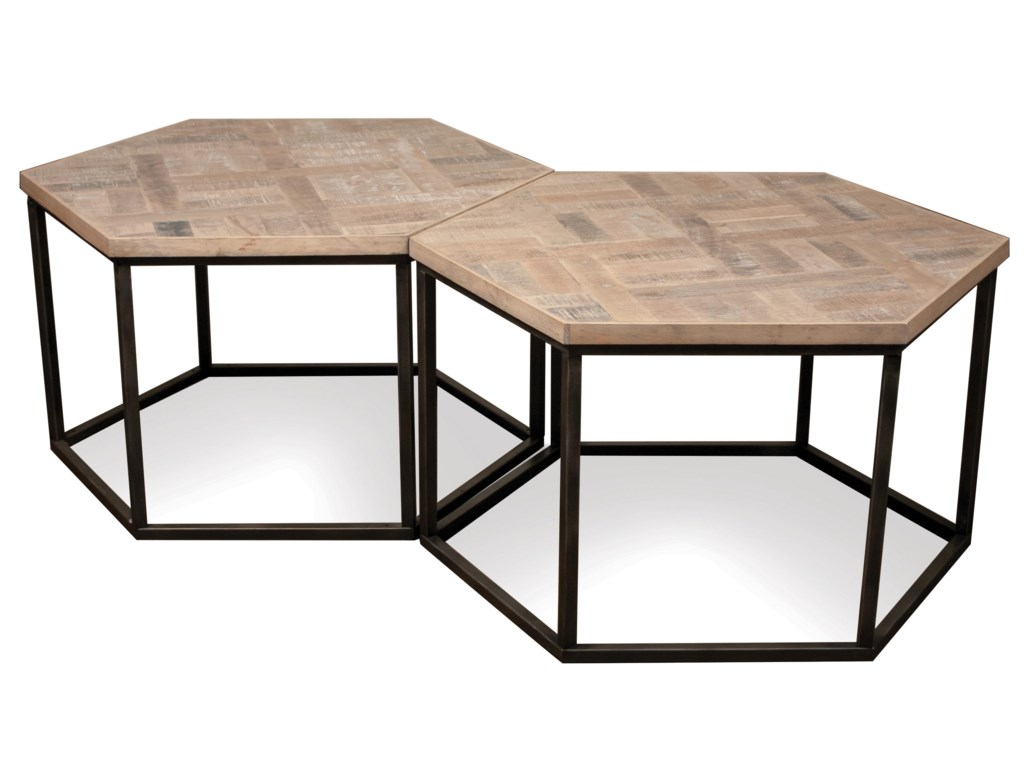 Riverside furniture thornhill hexagon coffee table w metal base riverside furniture thornhill hexagon coffee table w metal base geotapseo Image collections