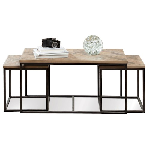 Riverside Furniture Thornhill 3 Pc Rectangular Nesting Cocktail Table
