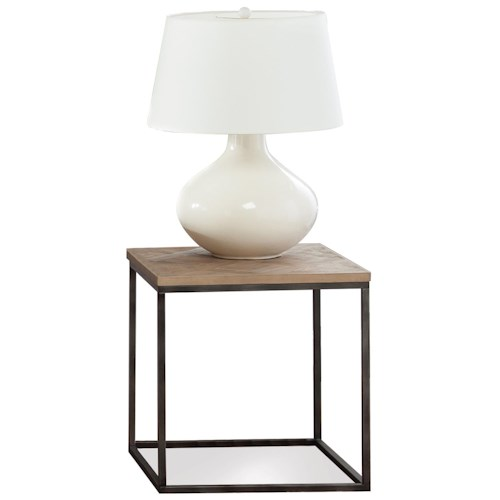 Riverside Furniture Thornhill Wood & Metal Square End Table