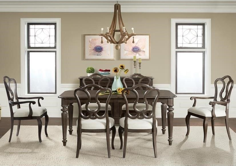 Riverside Furniture Verona 7 Piece Leg Table And Splat Back Chair Set