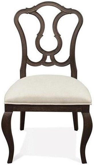 Riverside Furniture Verona Splat Back Upholstered Side Chair