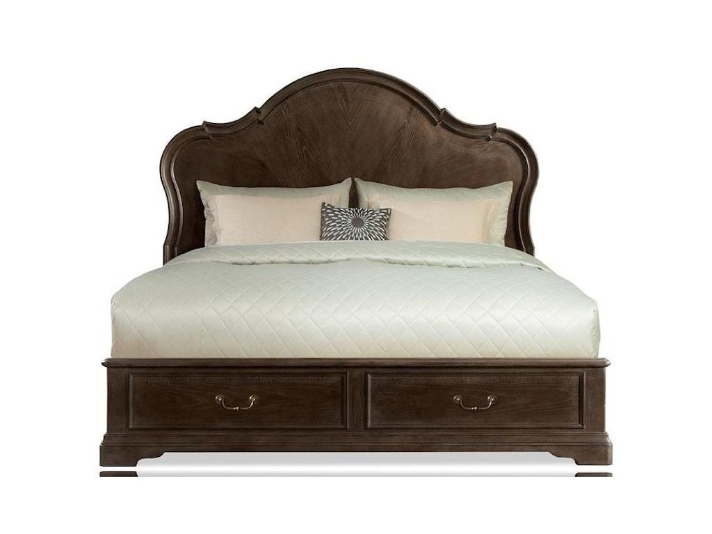 Riverside Furniture VeronaCalifornia King Panel Storage Bed