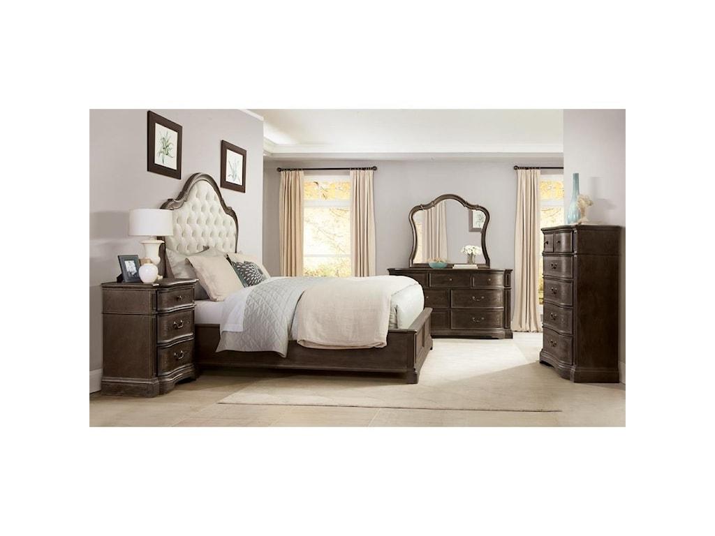 Riverside Furniture VeronaQueen Upholstered Panel Bed
