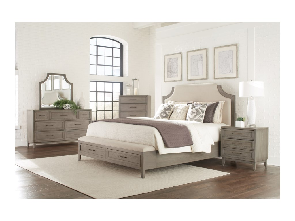 Riverside Furniture VogueCalifornia King Upholstered Storage Bed