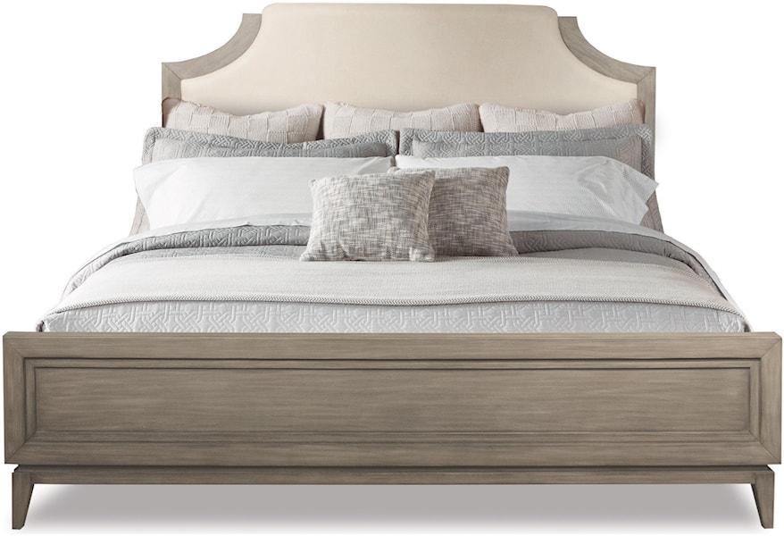 Riverside Furniture Vogue King Upholstered Bed in Gray Wash ...