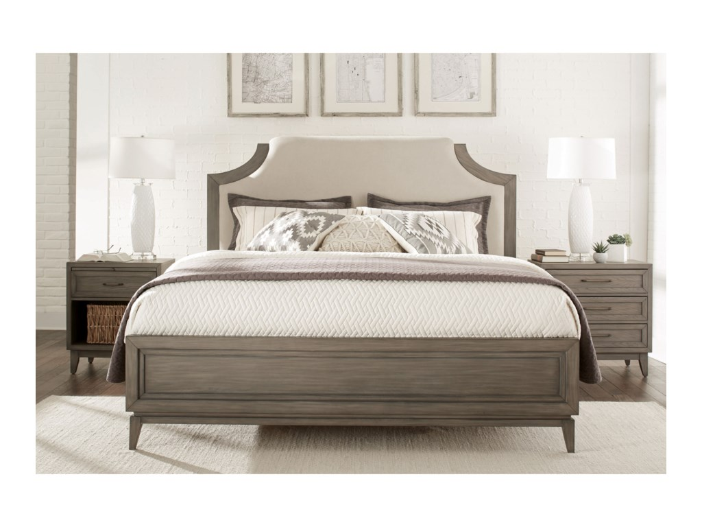 Riverside Furniture VogueKing Upholstered Bed