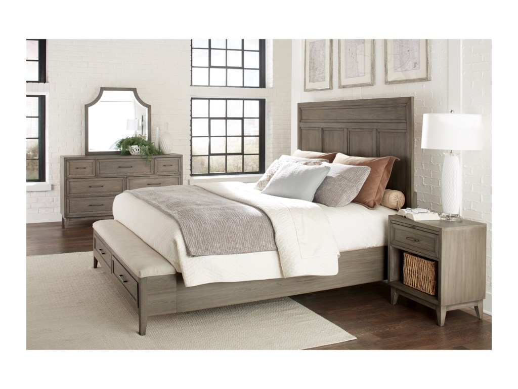 Riverside Furniture VogueQueen Panel Storage Bed