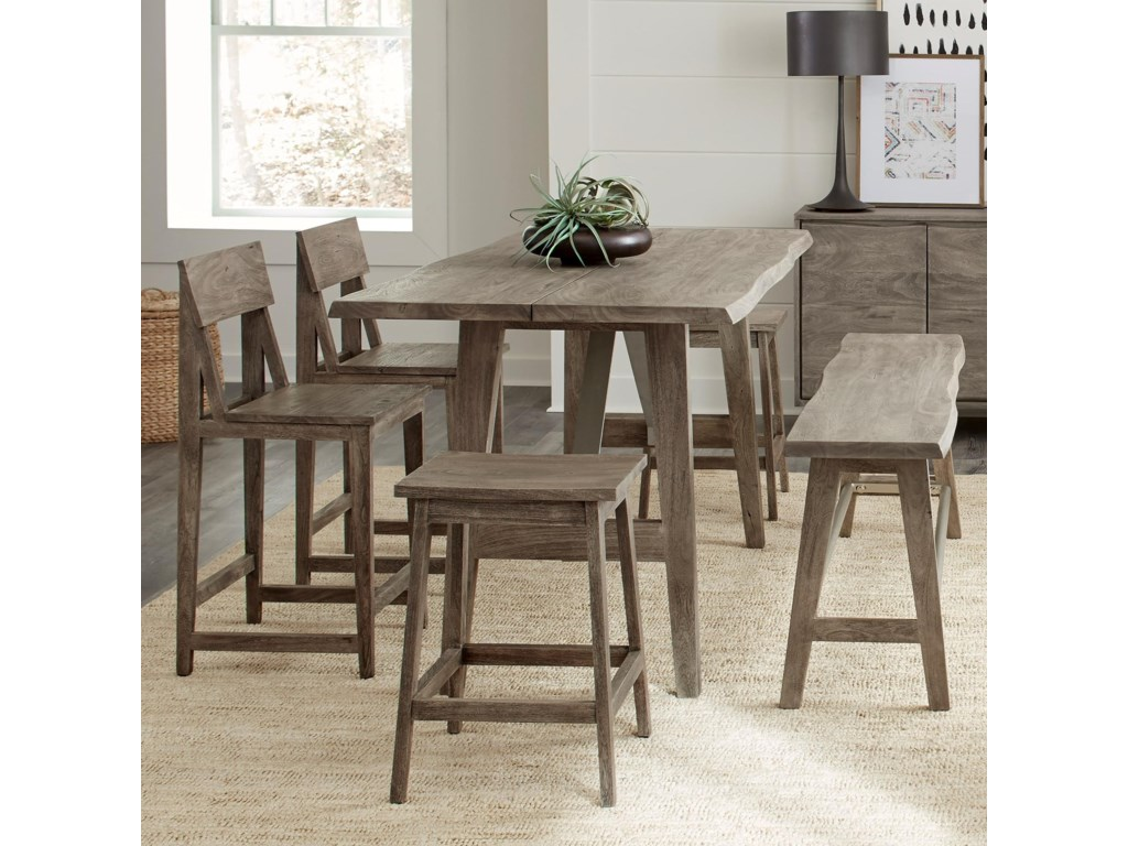 Riverside Furniture Waverly6-Piece Counter Height Table Set