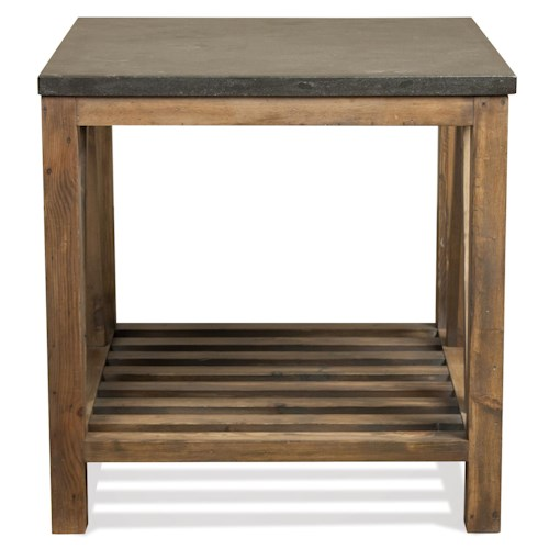 Riverside Furniture Weatherford Rectangular End Table