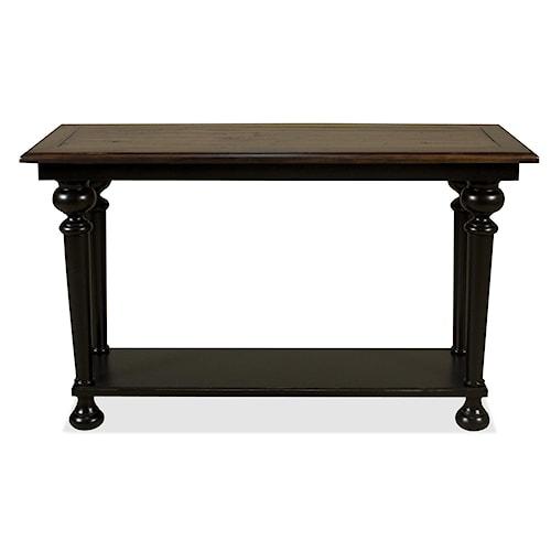 Riverside Furniture Williamsport Rectangular Sofa Table with Bottom Shelf
