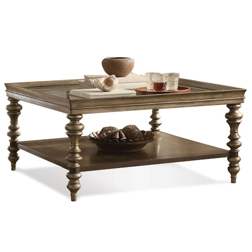 Riverside Furniture Windermier Square Coffee Table w/ Self