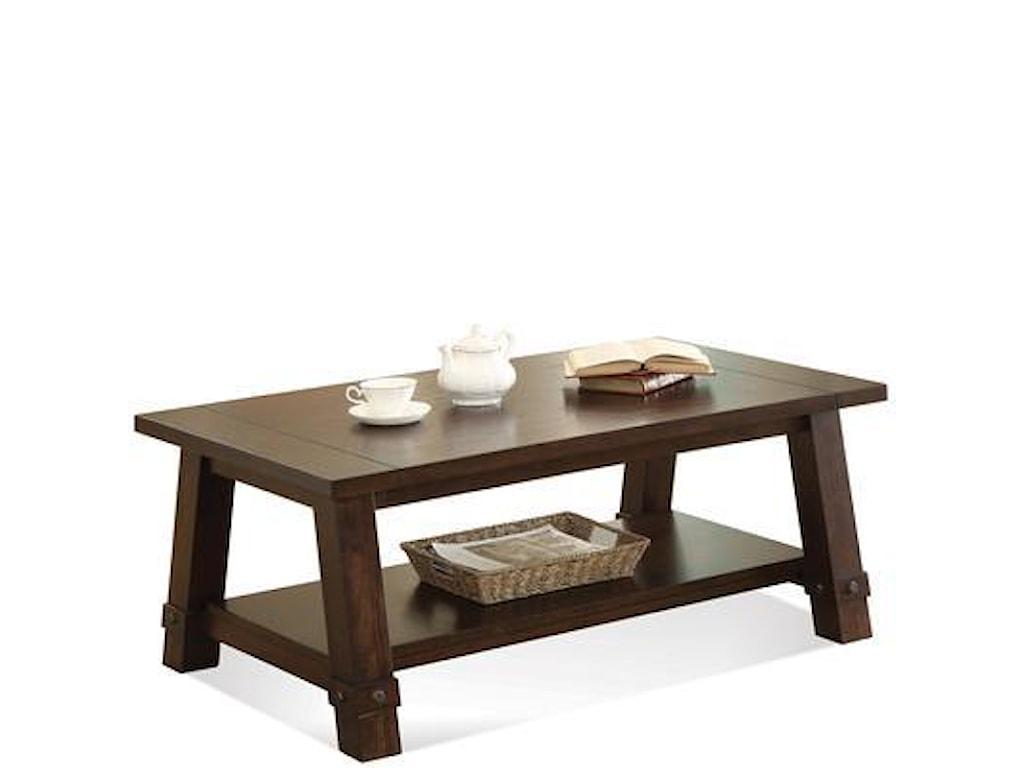 Riverside Furniture Windridge Angle-Leg Cocktail Table