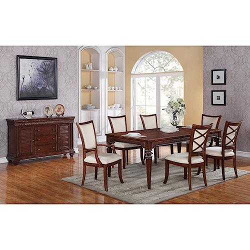 Riverside Furniture Windward Bay Formal Dining Room Group