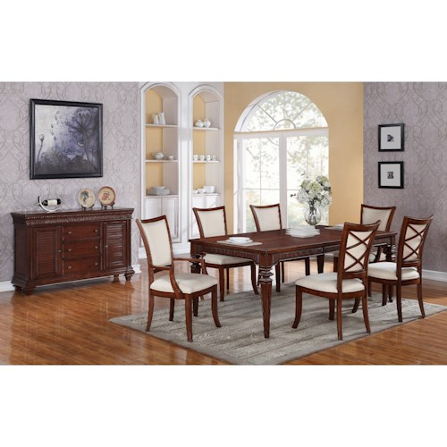 Riverside Furniture Windward Bay Formal Dining Room Group