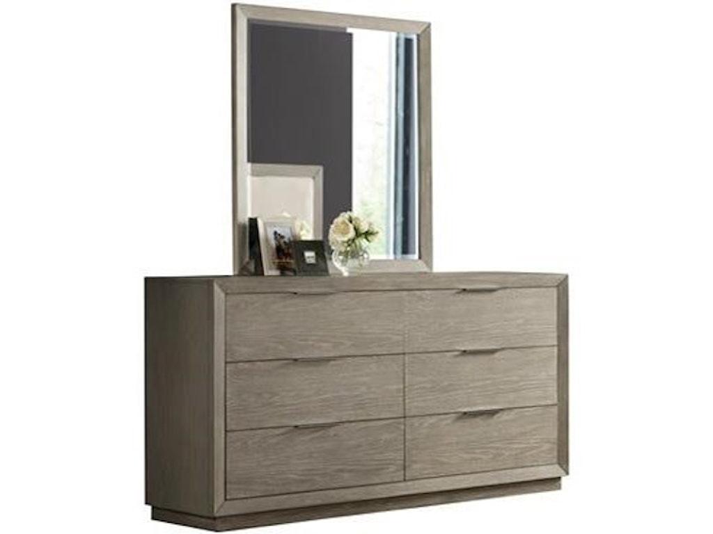 Riverside Furniture ZoeyDresser and Mirror Set
