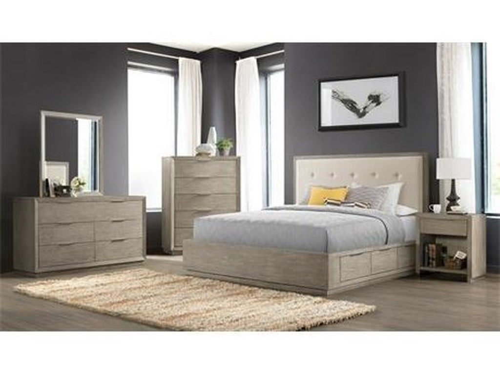 Riverside Furniture ZoeyQueen Double Storage Bed