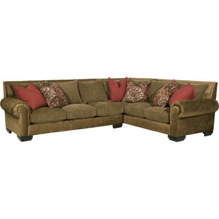 Traditional Styled Sectional Sofa