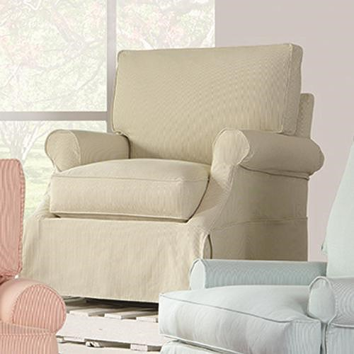 RB by Rowe Beatrix Casual Slip Cover Swivel Glider