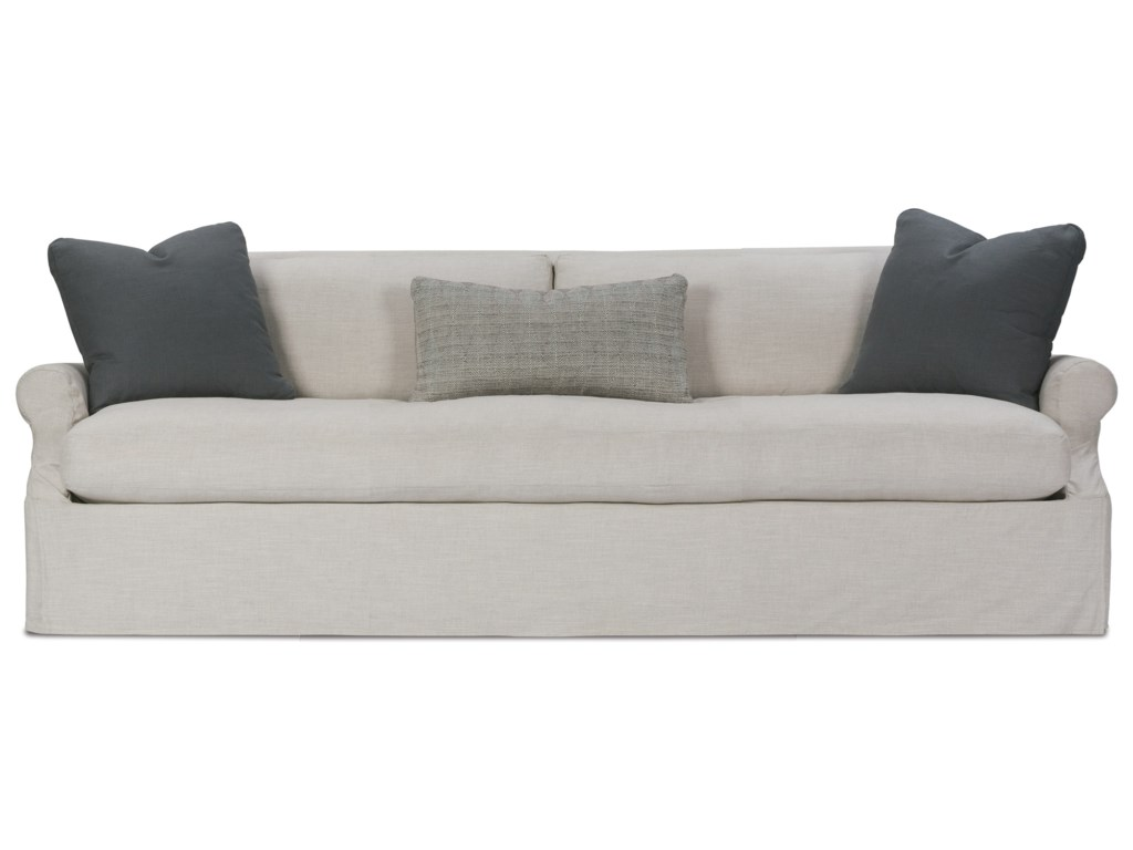 Bristol Contemporary 85 Sofa With Slip Cover And Bench Cushion By Robin Bruce