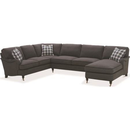 Sectional Sofa with Castered Turned