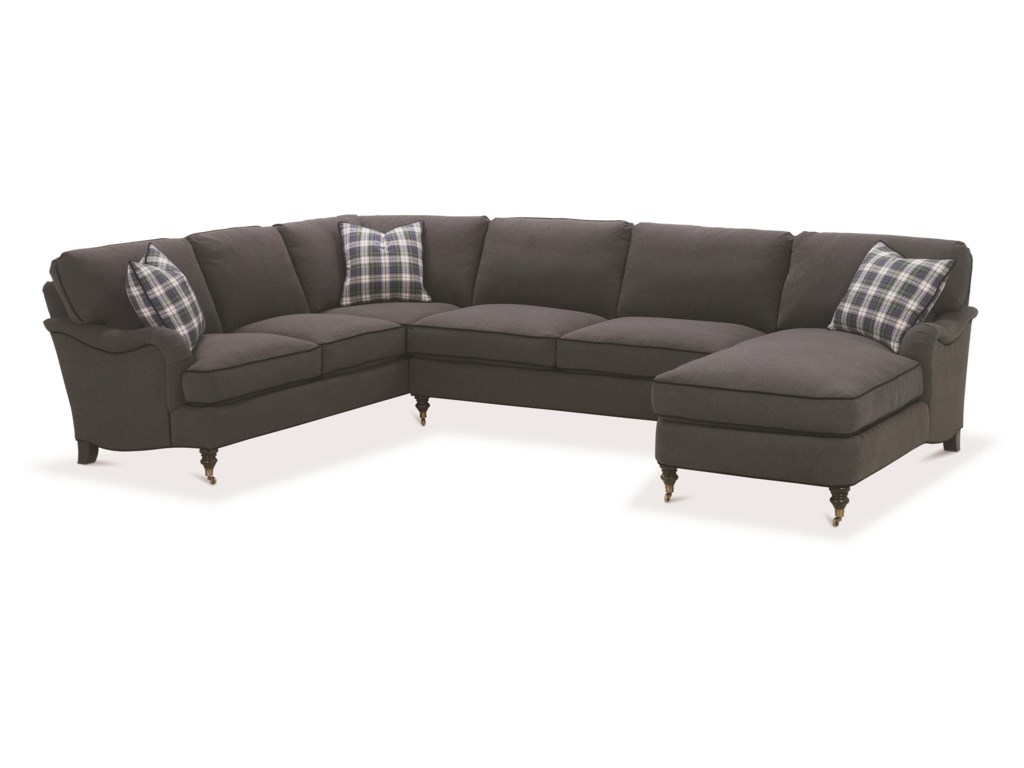Robin Bruce BrookeSectional Sofa with Castered Turned