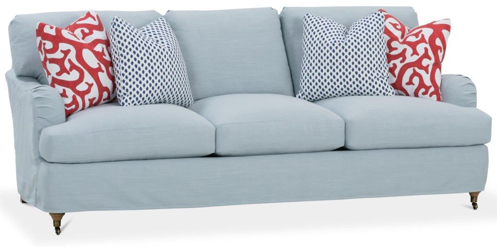 Rb By Rowe Brooke 86 Inch Slipcover Sofa Belfort Furniture Sofas