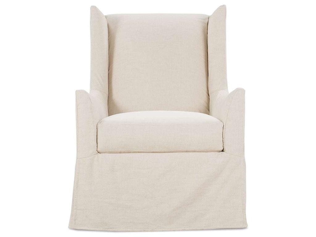 Robin Bruce EllorySlipcovered Swivel Chair