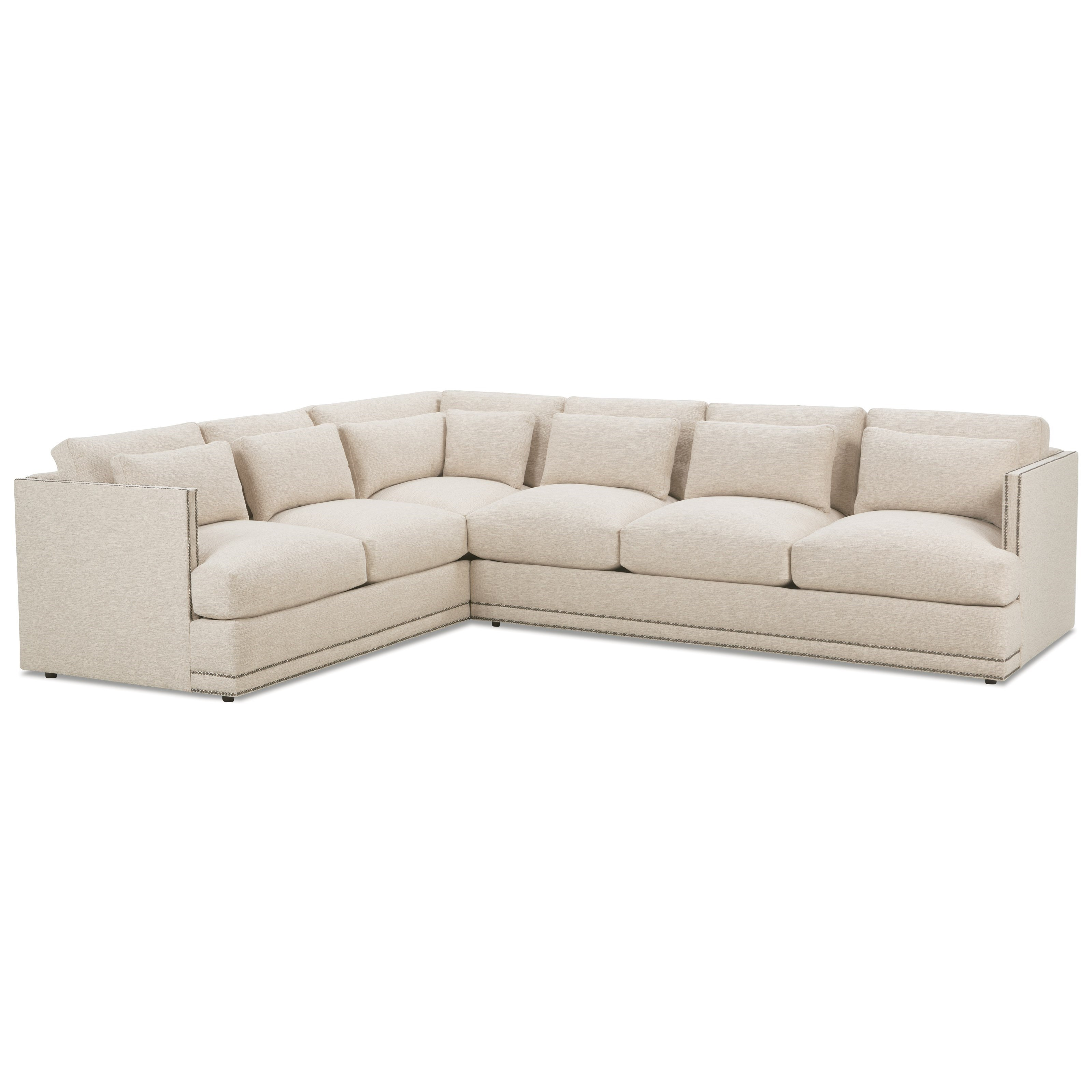 RB by Rowe Oscar Contemporary Sectional Sofa Group - Belfort Furniture - Sectional Sofas  sc 1 st  Belfort Furniture : rowe sectional sofas - Sectionals, Sofas & Couches