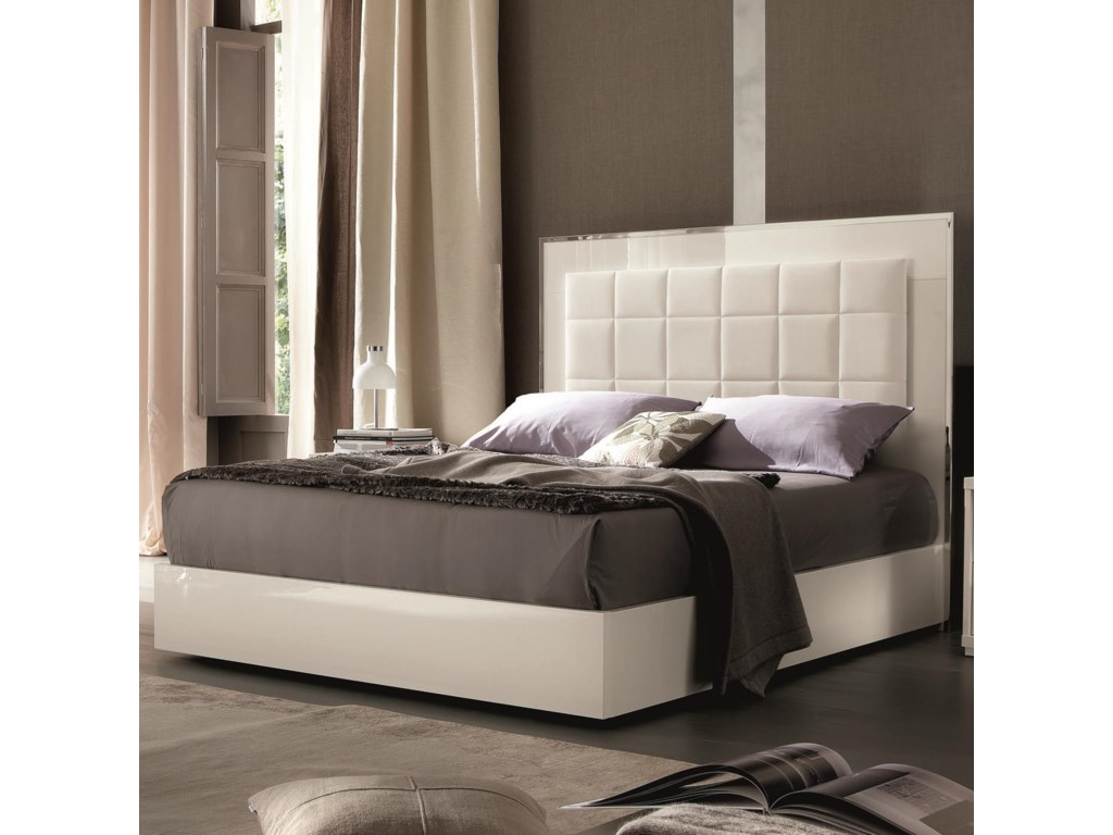 Alf Italia ImperiaQueen Upholstered Bed w/ Storage Footboard