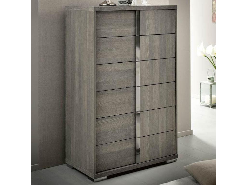 12dbfb2ca6 Alf Italia Tivoli Contemporary Weathered Gray Chest of Drawers ...