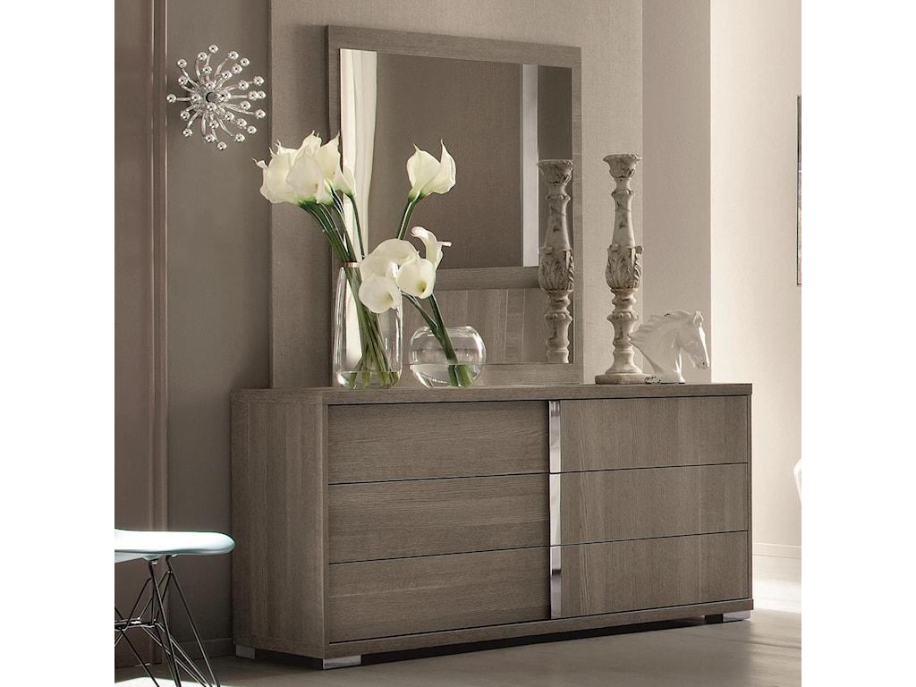 2b4b9582f5 Alf Italia Tivoli Contemporary Weathered Grey Dresser and Mirror Set ...