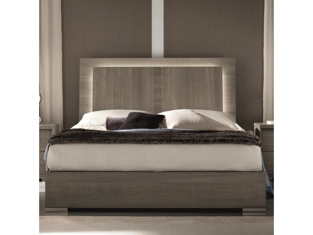 Alf Italia Tivoli PJTI0250RG Queen Weathered Grey Bed with ...